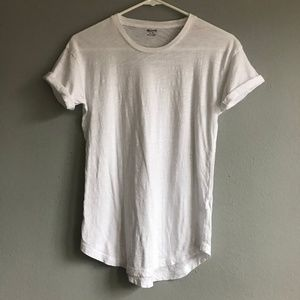 [Madewell] crew neck white tee shirt